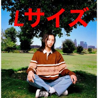 GDC - Wasted Youth × TOKION  ラガーシャツ 茶色 Lサイズ
