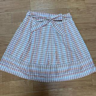 ELLE - 【ELLE】チェック柄スカート