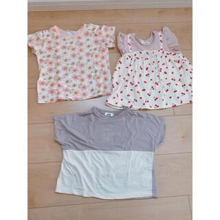 ブランシェス(Branshes)の【BRANSHS他】サイズ95.100 Tシャツ3枚セット(Tシャツ/カットソー)