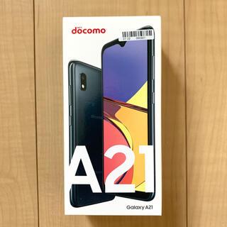 Galaxy - Docomo Galaxy A21 black sc-42 SIMロック解除済み