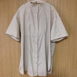しまむら - バンドカラー半袖ロングシャツ