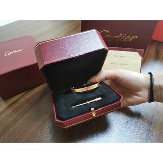 Cartier - カルティエ ラブブレス 18 K  #18  ピンク ゴールド ブレスレット