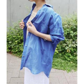 IENA - 今季 イエナ ラミーリヨセルタックオーバーシャツ ブルー 38