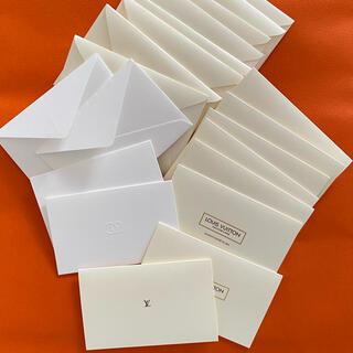 ルイヴィトン(LOUIS VUITTON)のヴィトン✨シャネル✨ブランド✨メッセージカード✨新品未使用✨(カード/レター/ラッピング)