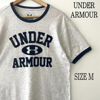 UNDER ARMOUR - UNDER ARMOUR アンダーアーマー ロゴプリント リンガーTシャツ M
