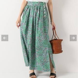 IENA - [7/26まで]IENA フラワーデザインスカート