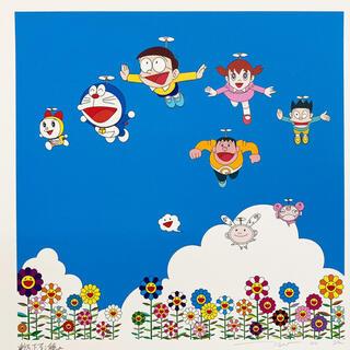 メディコムトイ(MEDICOM TOY)の村上隆 ぼくと弟とドラえもんとの夏休み 版画 zingaro(版画)