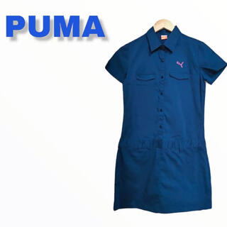 PUMA - PUMA プーマ ゴルフ ウェア ワンピース レディース 紺 ネイビー M