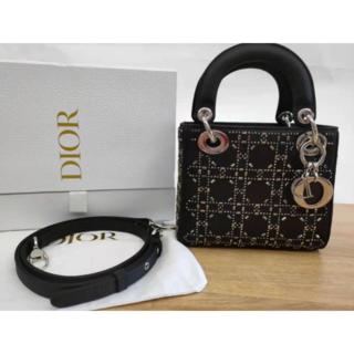ディオール(Dior)の Dior レディディオール ラインストーン(トートバッグ)