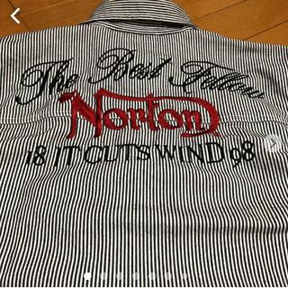 ノートン(Norton)の美品 Nortonキッズ5分袖ヒッコリーシャツ 150 (ジャケット/上着)
