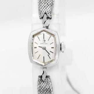 オメガ(OMEGA)のOMEGA オメガ 14KWG 無垢 レディース 手巻き 腕時計  OH済(腕時計)