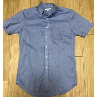 ユニクロ(UNIQLO)のユニクロ 半袖 ビジネスワイシャツ ブルー Sサイズ(シャツ)