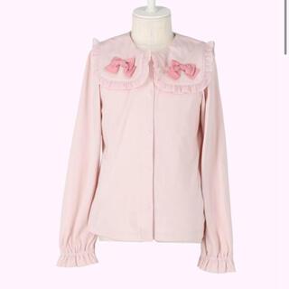 Shirley Temple - シャーリーテンプル ☆リボン付きセーラーカラーブラウス 120 ピンク