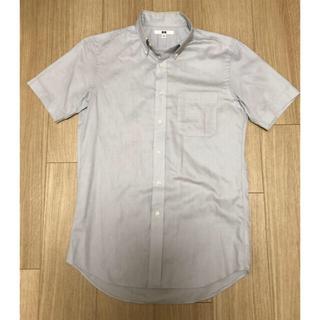 ユニクロ(UNIQLO)のユニクロ 半袖 ビジネスワイシャツ グレー Sサイズ(シャツ)