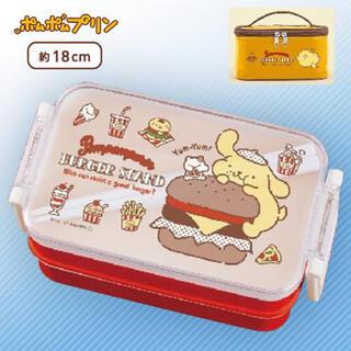 ポムポムプリン - ポムポムプリン プクプク 保冷バッグ付き ランチ ボックス