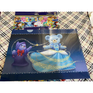 ディズニー(Disney)のユニベア 10周年 クリアファイル シンデレラ ブルーローズ ポティロン(クリアファイル)