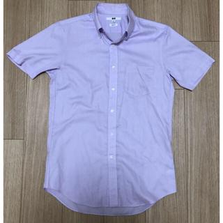 ユニクロ(UNIQLO)のユニクロ 半袖 ビジネスワイシャツ パープル Sサイズ(シャツ)
