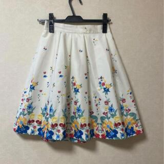 マーキュリーデュオ(MERCURYDUO)のマーキュリー花柄スカート(ひざ丈スカート)