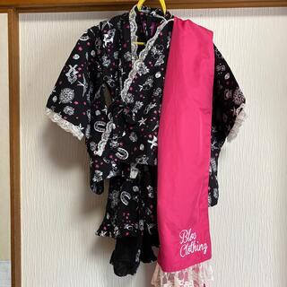 ブロック(BLOC)のBLOC/タトゥー柄浴衣3点セット100/ブロック(甚平/浴衣)
