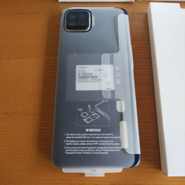 OPPO(オッポ)の【新品】OPPO A73 ネービーブルー スマホ/家電/カメラのスマートフォン/携帯電話(スマートフォン本体)の商品写真