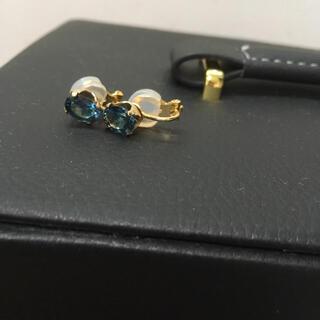 ロンドンブルートパーズ 宝石質 イヤリング