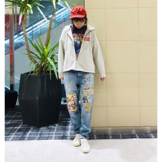 HYSTERIC GLAMOUR - 人気!完売!コラージュパッチリメイクデニムHYSTERIC GLAMOUR