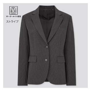 ユニクロ(UNIQLO)のユニクロ ストレッチテーラードジャケット フレアスカート スーツ 上下 セット(テーラードジャケット)