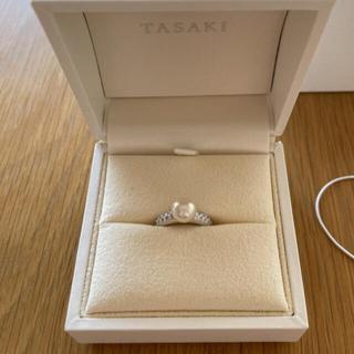 タサキ(TASAKI)の田崎真珠 パールリング  7.5mm玉 プラチナ 指輪(リング(指輪))