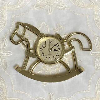 SEIKO - 【希少品】アンティーク SEIKO QZ396G 置き時計 木馬 ゴールド