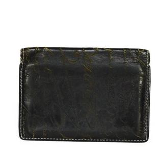 ベルルッティ(Berluti)のベルルッティ ジャグア スタンプ 旧型 カリグラフィ ブラック カードケース(パスケース/IDカードホルダー)