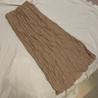 フレームワーク(FRAMeWORK)のシワ加工スカート(ロングスカート)