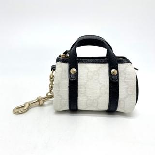 グッチ(Gucci)のグッチ 198338 GG ミニボストンチャーム チャーム ホワイト×ブラック(チャーム)