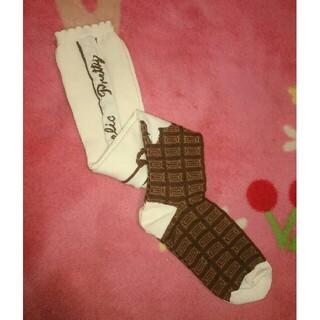 アンジェリックプリティー(Angelic Pretty)のAngelic Pretty★Royal Chocolate オーバーニー★生成(ソックス)