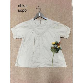 エヘカソポ(ehka sopo)の💕ehka sopo💕エヘカソポ💕Fサイズ💕綿100%トップス💕(シャツ/ブラウス(半袖/袖なし))