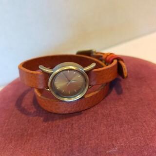 けーとママ様専用☆FUUCA 二重巻革ベルト 腕時計 ブレスレット(腕時計)