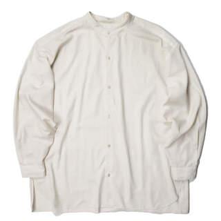アダムエロぺ(Adam et Rope')のADAM ET ROPE 21SS オーバーサイズスパンローンバンドカラーシャツ(シャツ)