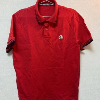 モンクレール(MONCLER)のモンクレール ポロシャツ Mサイズ レッド 赤(ポロシャツ)