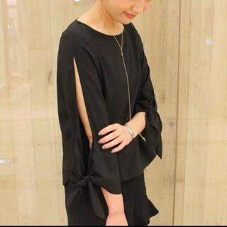 Noble - ノーブル  袖リボン ブラウス ブラック