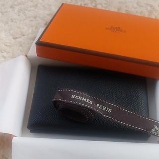 エルメス(Hermes)のHERMES エルメス カルヴィ カードケース 名刺入れ ブラック(名刺入れ/定期入れ)