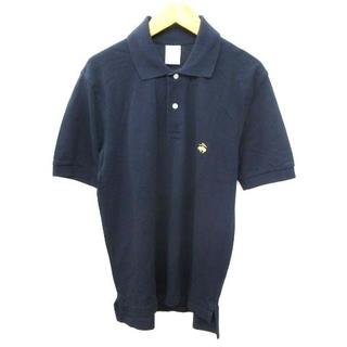 Brooks Brothers - ブルックスブラザーズ ポロシャツ 半袖 ワンポイント刺繍 コットン S 紺