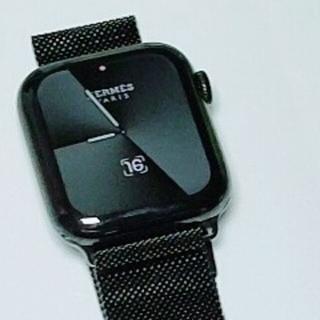 Applewatch series6 HERMES 44mm ブラックモデル (その他)