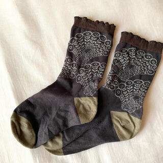 ミナペルホネン(mina perhonen)のミナペルホネン peacock  靴下 (ソックス)