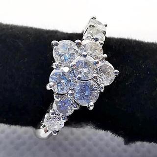 ダイヤモンド 1.00ct pt900 指輪 リング フラワーモチーフ