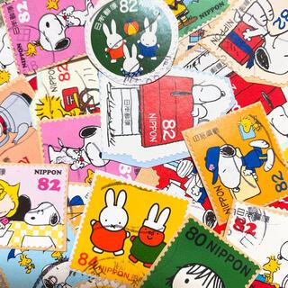 スヌーピー(SNOOPY)の使用済み切手 スヌーピー ミッフィー ムーミン まとめ売り 82円切手(使用済み切手/官製はがき)