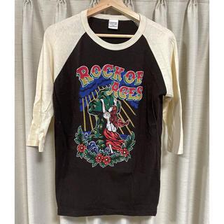 クーティー(COOTIE)のCOOTIE ラグラン 七分袖 プリントカットソー(Tシャツ/カットソー(七分/長袖))
