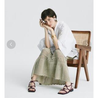 Mila Owen - 美品 ミラオーウェン クロシェニットマキシスカート