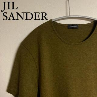 ジルサンダー(Jil Sander)の【美品】JIL SANDER ジルサンダー Tシャツ カットソー オリーブ(Tシャツ/カットソー(半袖/袖なし))