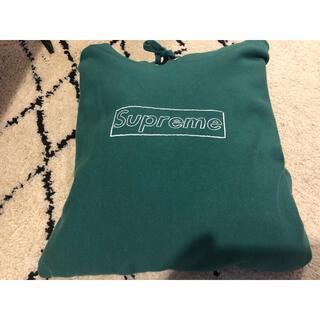 Supreme - Supreme KAWS Chalk Logo Hooded green m