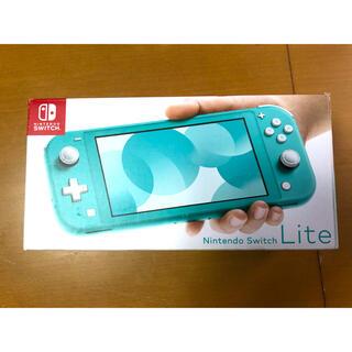 ニンテンドースイッチ(Nintendo Switch)の【ほぼ新品・保証書付】Switch Lite ターコイズ スイッチライト(携帯用ゲーム機本体)