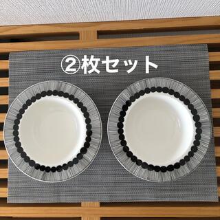 marimekko - マリメッコ 食器 ディーププレート20cm ホワイト/ブラック